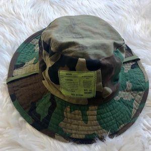 Camo Printed Safari Style Bucket Hat.